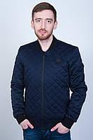 Стильная мужская демисезонная куртка - бомбер. Цвет Синий. Код 1709