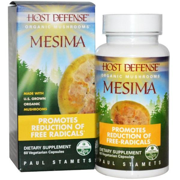 Fungi Perfecti, Иммунная защита, Mesima, 60 вегетарианских капсул