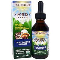 Fungi Perfecti, Стаметс 7 для защиты организма из серии Органические грибы для защиты организма, органический грибной препарат для ежедневного