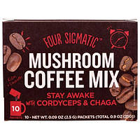 Four Sigmatic, Cordyceps Mushroom Coffee, 10 ct, 0.09 oz Each