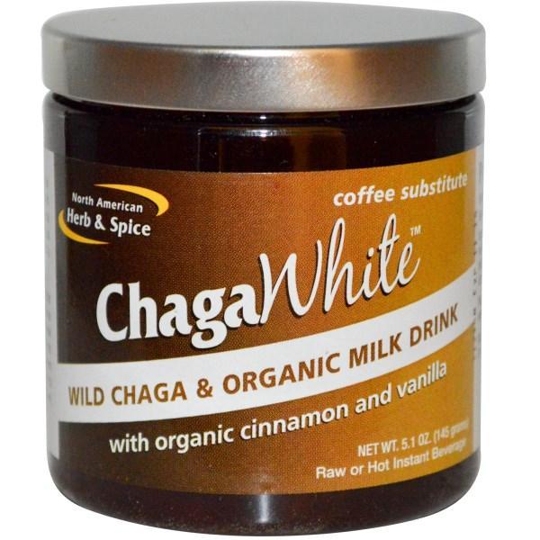 North American Herb & Spice Co., ChagaWhite, заменитель кофе, 5.1 унций (145 г)
