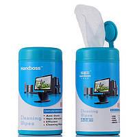 Чистящее средство (влажные салфетки), влажные салфетки для офисной техники, салфетки для очистки линз очков