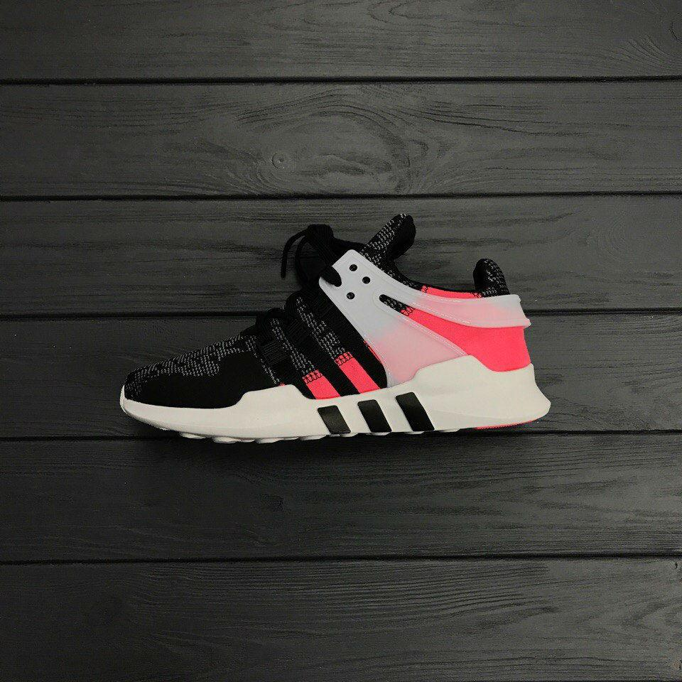 Кроссовки Аdidas EQT Grey/Pink. Живое фото. Топ качество! (Реплика ААА+)
