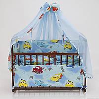 """Комплект постельного белья для новорожденного """"Тачки"""""""