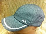 Мужская  бейсболка хлопковая серого цвета  56-57-58-59, фото 4