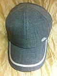 Мужская  бейсболка хлопковая серого цвета  56-57-58-59, фото 5
