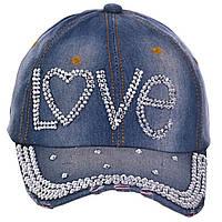 Джинсовая кепка Love