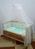 """Детский постельный комплект без одеяла и подушки """"Мишки игрушки"""""""