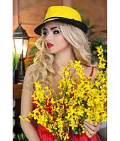 Шляпа соломенная с черными полями в расцветках