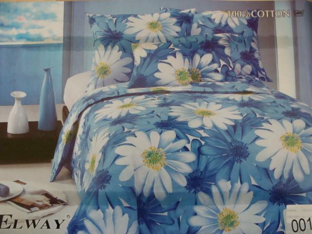 Сатиновое постельное белье полуторное ELWAY 001