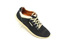 Кожаные мужские кроссовки Columbia перфорация kf син.