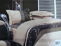 Сатиновое постельное белье полуторка ELWAY 851