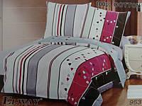 Сатиновое постельное белье полуторка ELWAY 953
