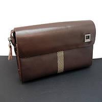 Клатч кожаный мужской коричневый Armani 171-2, фото 1