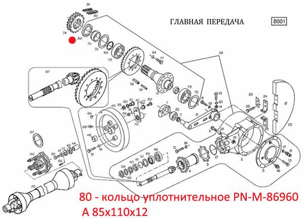 Кольцо  уплотнительное PN-M-86960  A 85x110x12