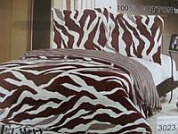 Сатиновое постельное белье полуторка ELWAY 3023