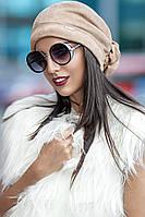 Оригинальная женская шапка-бандана из замши на флисе (разные цвета)