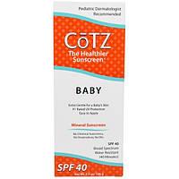 Cotz, Для Ребенка, Минеральный Солнцезащитный крем, SPF 40, 3,5 унции (100 г)
