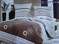 Сатиновое постельное белье полуторка ELWAY 3707