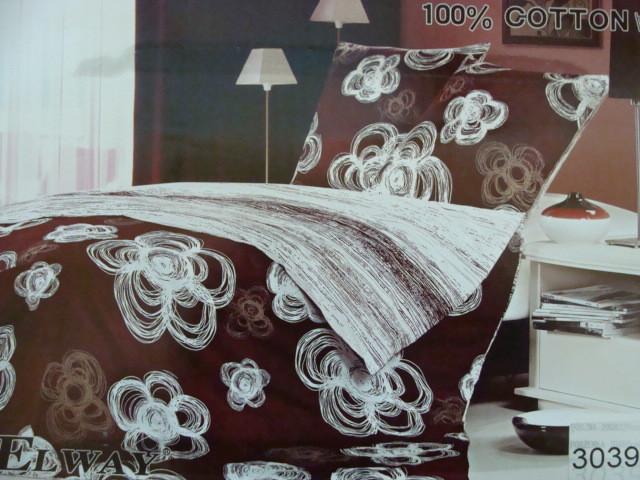 Сатиновое постельное белье полуторное ELWAY 3039