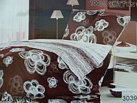 Сатиновое постельное белье полуторка ELWAY 3039