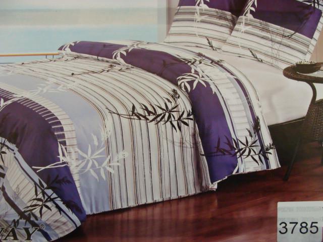 Сатиновое постельное белье полуторное ELWAY 3785