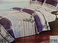 Сатиновое постельное белье полуторка ELWAY 3785