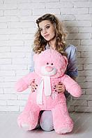Мишка Тедди 80 см, плюшевые медведи. мягкая игрушка мишка. мягкие игрушки украина Мех искусственный, Животное, розовый