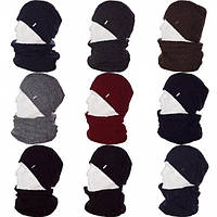 Мужской набор шапка+хомут ( 7 цветов )