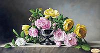 Схема для вышивания бисером Розы и камень