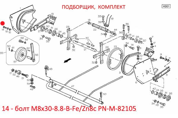 M8x30-8.8-B-Fe/Zn8c PN-M-82105