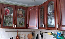 Изготовление и монтаж витражей в кухонные фасады 1