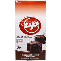 "YUP, B Up,  Шоколадные батончики ""Chocolate Brownie"", 12 батончиков, 2,2 унции (62 г) каждый"