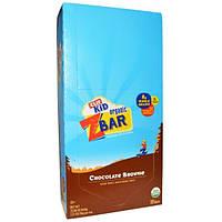 Clif Bar, Органический батончик Z Bar от Clif Kid, шоколадный брауни, 18 батончиков, 1,27 унций (36 г) в батончике