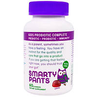 SmartyPants, Complete, Детский Пробиотик, Виноград, 60 конфет
