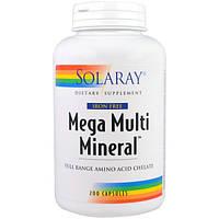 Solaray, Мультиминералы, без железа, 200 капсул