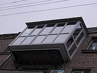Крыша с профнастила на балконе