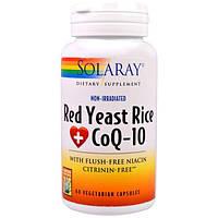 Solaray, Красный ферментированный рис CoQ-10, 60 вегетарианских капсул