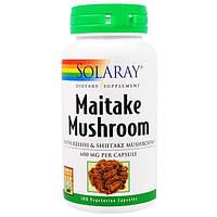 Solaray, Грифола курчавая, 600 мг, 100 вегетарианских капсул
