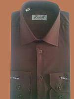 Рубашка с длинным рукавом коричневая, фото 1