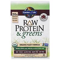Garden of Life, Сырой Протеин и Зелень, Органическая Расительная Формула, Сырые Шоколадные Какао-бобы, 10 пакетов, по 1,1 унции (33 г) Каждый