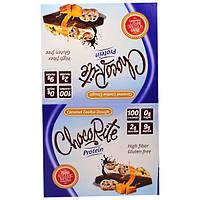 """HealthSmart Foods, Inc., """"ChocoRite"""", белковые батончики со вкусом карамельной начинки для печенья, 16 батончиков по 1,20 унции (34 г)"""
