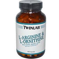 Twinlab, L-Arginine and L-Ornithine, 100 Capsules