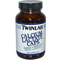 Twinlab, Calcium Lactate Caps, 100 Capsules