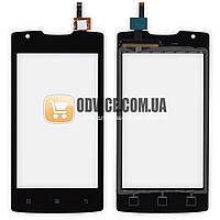 Тачскрин для мобильного телефона (смартфона) Lenovo A1000, цвет черный, маленькая микросхема ЛУЧШАЯ ЦЕНА + ПОДАРОК