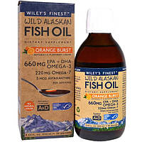 Wiley's Finest, Wild Alaskan Fish Oil, Orange Burst, 660 mg , 8.4 fl oz. (250 ml)