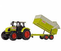 Игрушечные машинки и техника «Dickie Toys» (3739000) трактор CLAAS с прицепом, 57 см