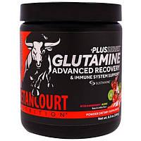 """Betancourt, Глутаминовый коктейль из серии """"Плюс"""" для улучшенного восстановления и поддержания иммунитета, со вкусом клубники и киви, 8,5 унций (240"""