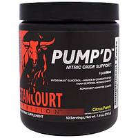"Betancourt, ""Pump'D"", донатор азота со вкусом цитрусового пунша, 7,4 унции (210 г)"