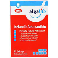 SALE, Algalife, Icelandic Astaxanthin, 12mg, 60 Gelcaps